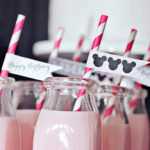 Minnie Mouse party drink flags-cute!