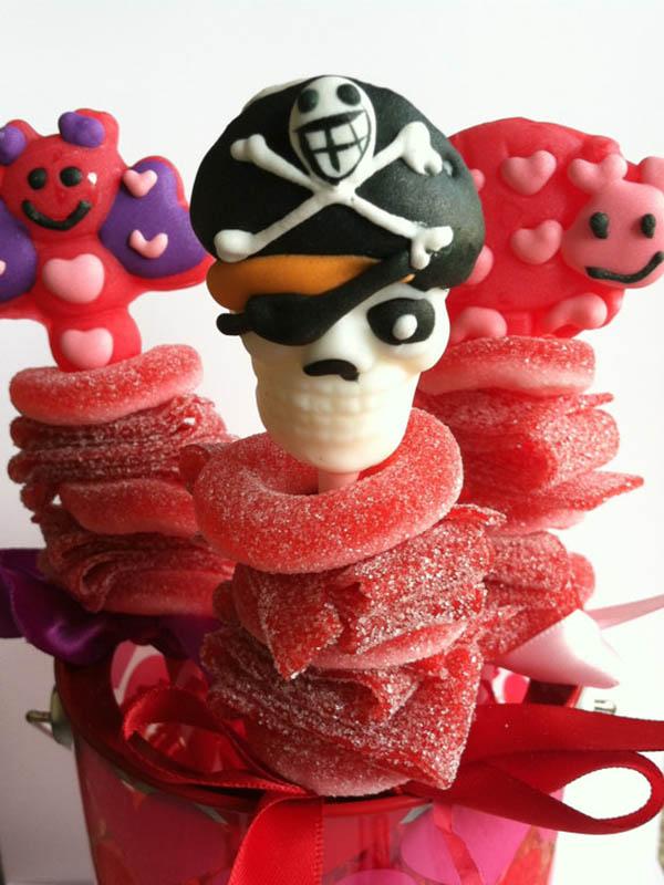 Pirate candy kabob