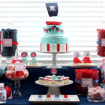 Pirate party candy buffet
