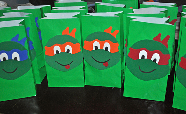 TMNT Goodie Bags- So cute for a party!