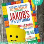 cute lego party invite on etsy!