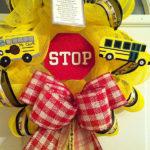 Back To School School Bus Wreath!