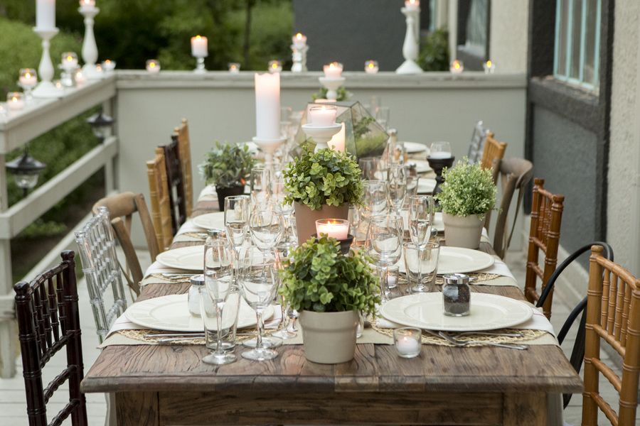 30 table setting ideas for party table decorating ideas for Outdoor dinner party decorating ideas