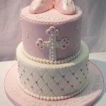 Beautiful baptism cake