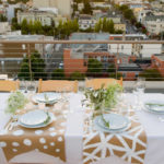 Cute Rooftop dinner party