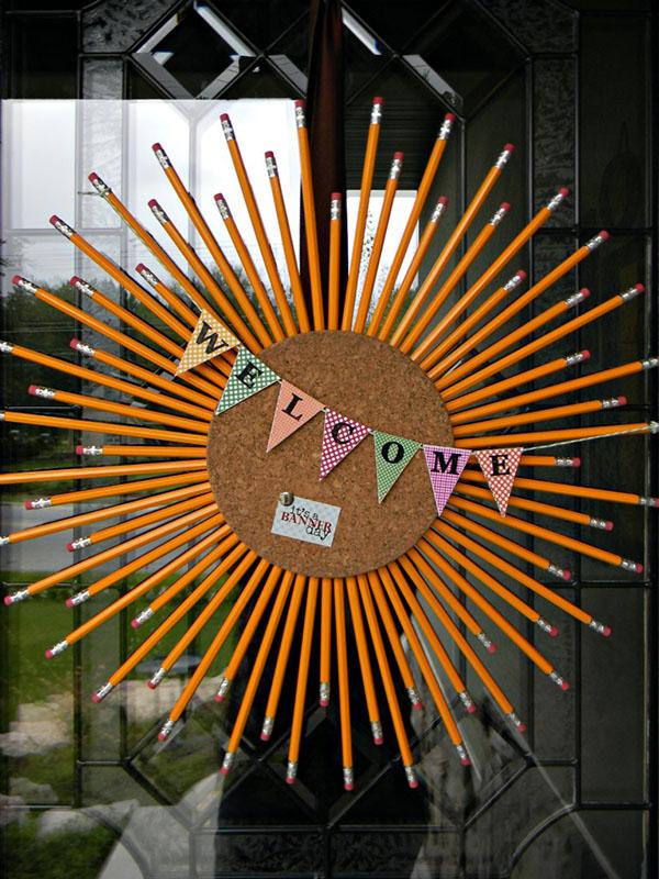DIY Pencil Wreath For Back To School