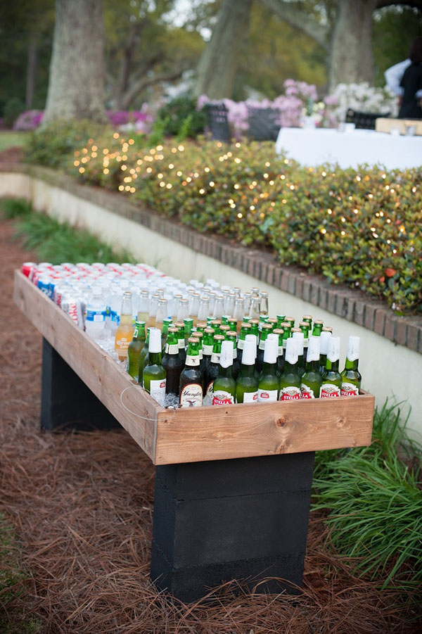 DIY table full of drinks!