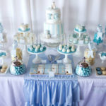 Darling little boys christening party