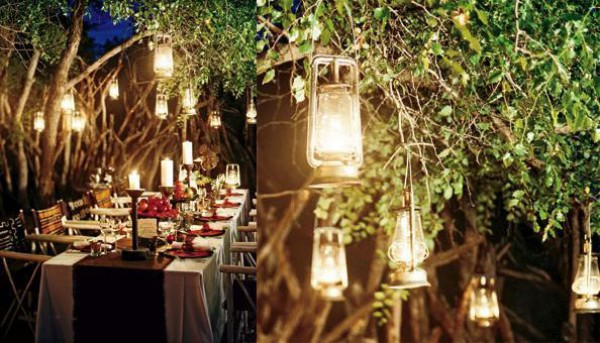 Hanging Lanterns From Trees Can Create Such An Intimate Look