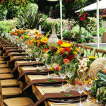 Look At The details in this outdoor dinner party