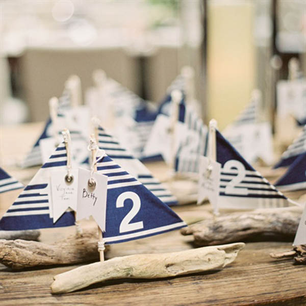 Love These Sailboat Escort Cards