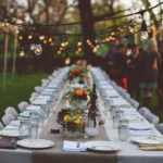 Love the Lighting in this Outdoor Dinner Party