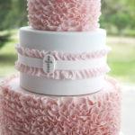 Love this Christening ruffled cake