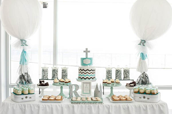 Love this amazing Christening dessert table