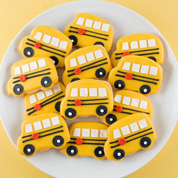 School Bus Cookies For Back To School!