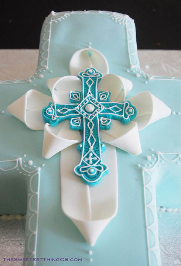 Way too cute religious cake!