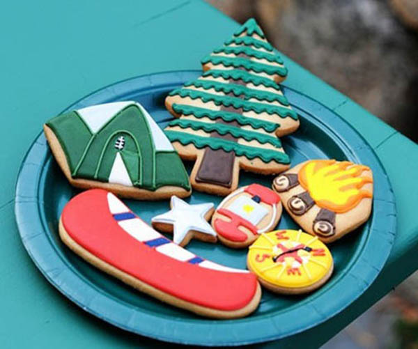 Adorable Camping Cookies