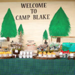 Cute Hand Painted Forest Backdrop At This Camping Party!