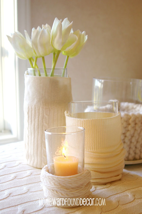 DIY Sweater Vases