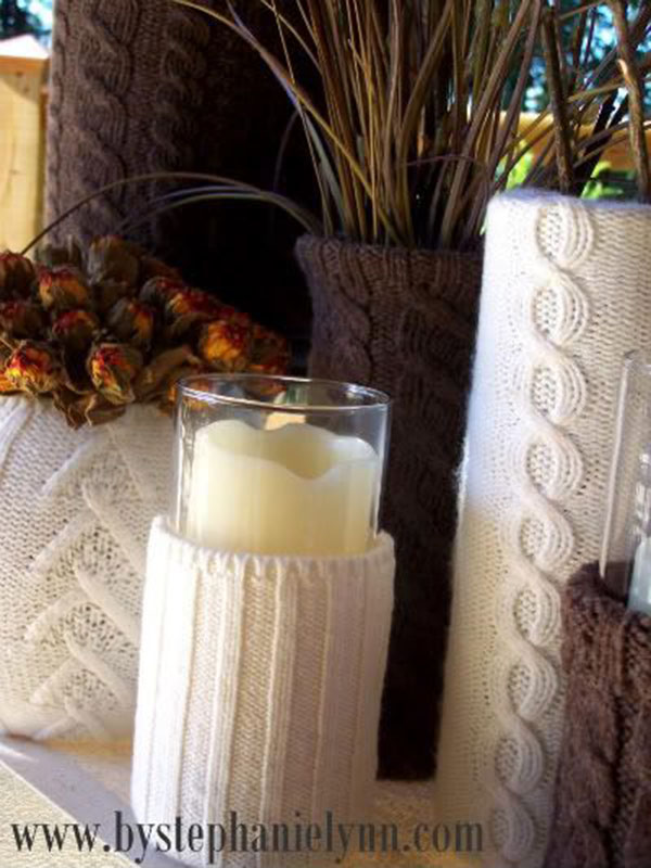 Fabulous Sweater Candles