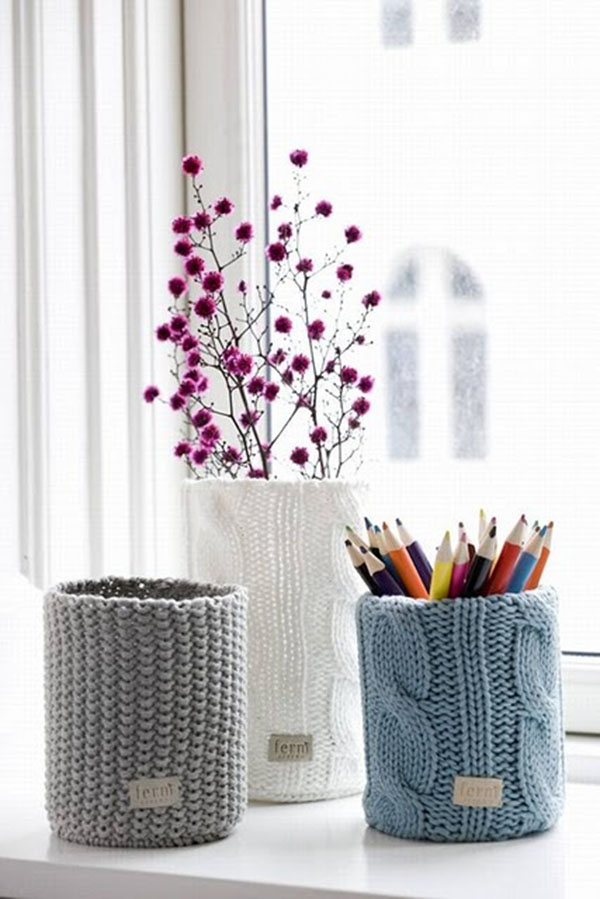 Fun Sweater Vases!