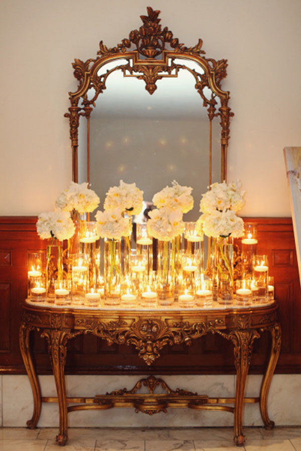 Gorgeous Candle and Flower display