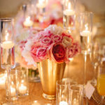 Gorgeous Candles In This Centerpiece