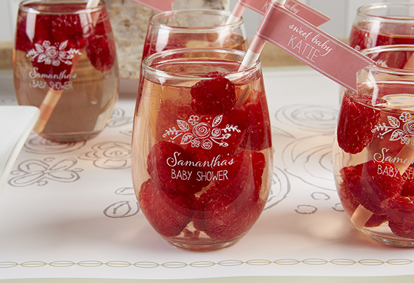 How cute are these baby shower drinks