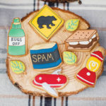 Love these camping themed cookies