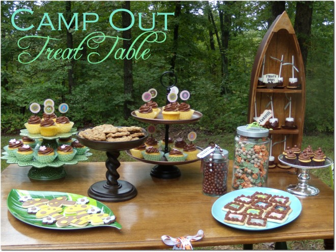 Love this Camp Out Dessert Table For A Camping Party