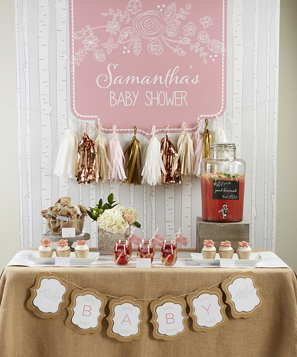 Love this rustic Baby Shower table