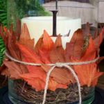 Lovely Fall candle centerpiece