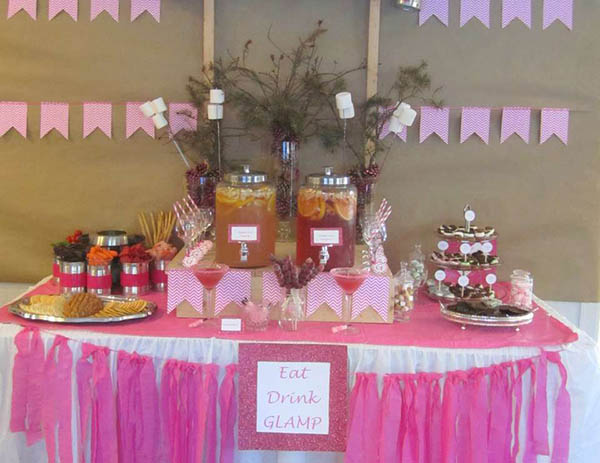 Lovely Glamping Party with tons of pink!