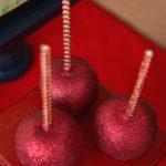 Red Glitter Caramel Apples