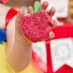 Snow White Glitter Apple Cookies