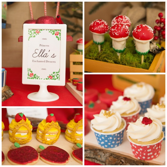 Snow White Themed desserts- Cute!