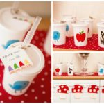 Snow white woodland favors