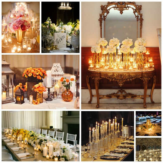 Wedding Candle Centerpieces We Love