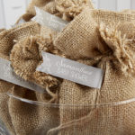 burap favors for rustic baby shower