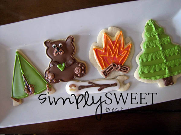 could these camping cookies get any cuter
