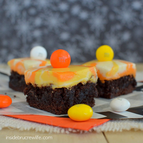 Candy Corn Brownies For Halloween!