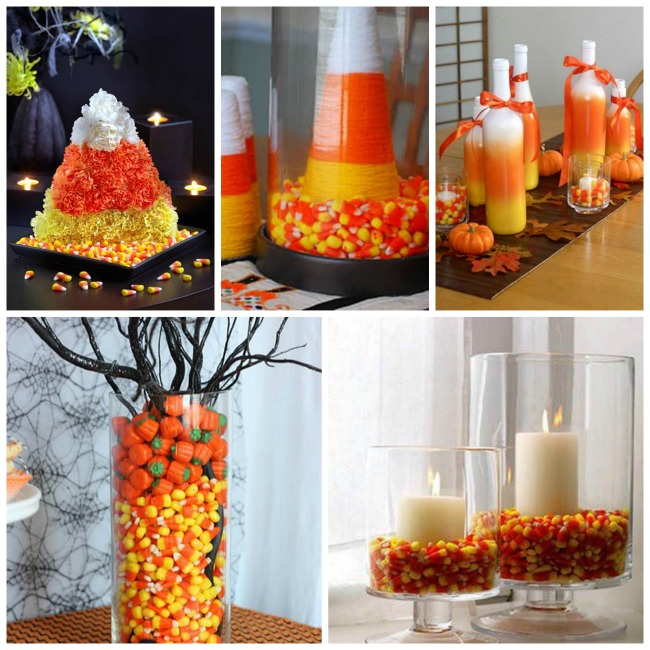 Candy Corn Centerpieces!
