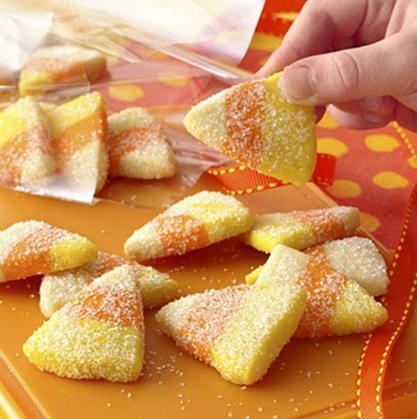 Candy Corn Cookies for halloween