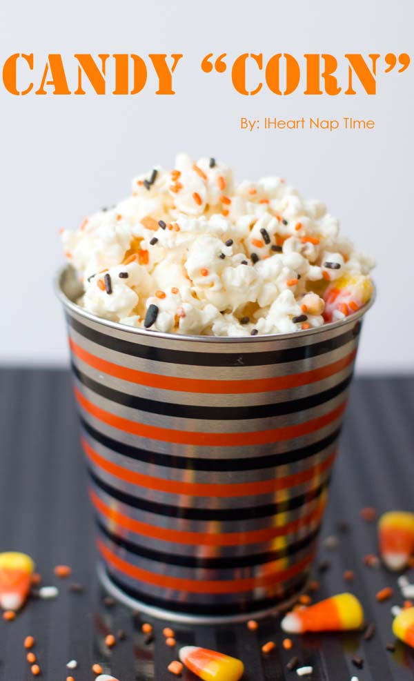 Candy Corn Popcorn For Halloween!
