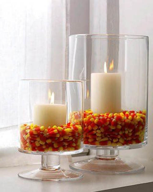 Chic Candy Corn Centerpiece