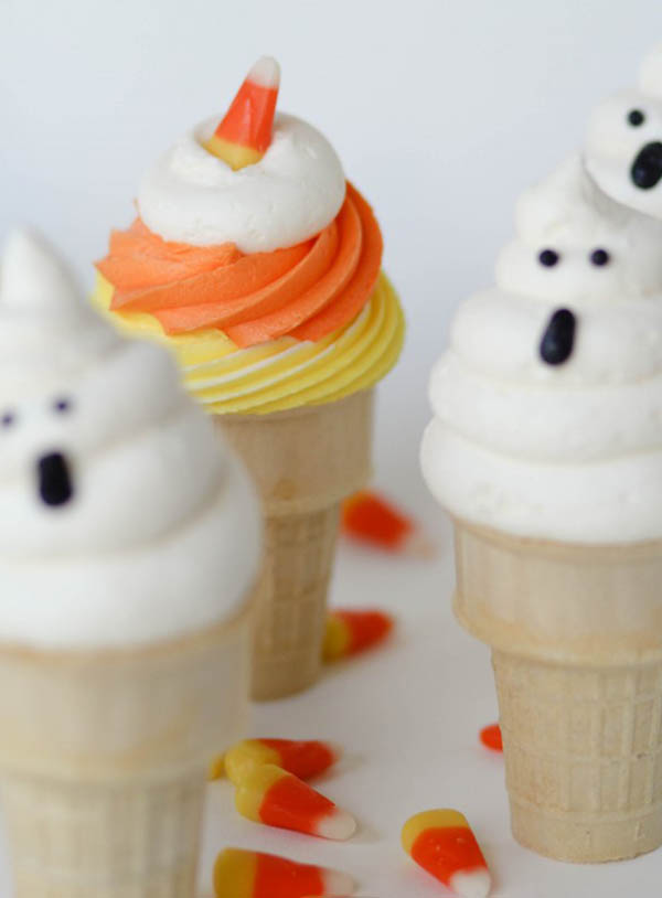 Cotton Candy Ice Cream Cones