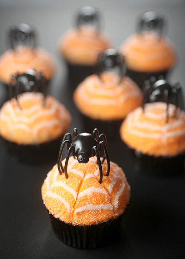 Cute Little Spider Cupcakes
