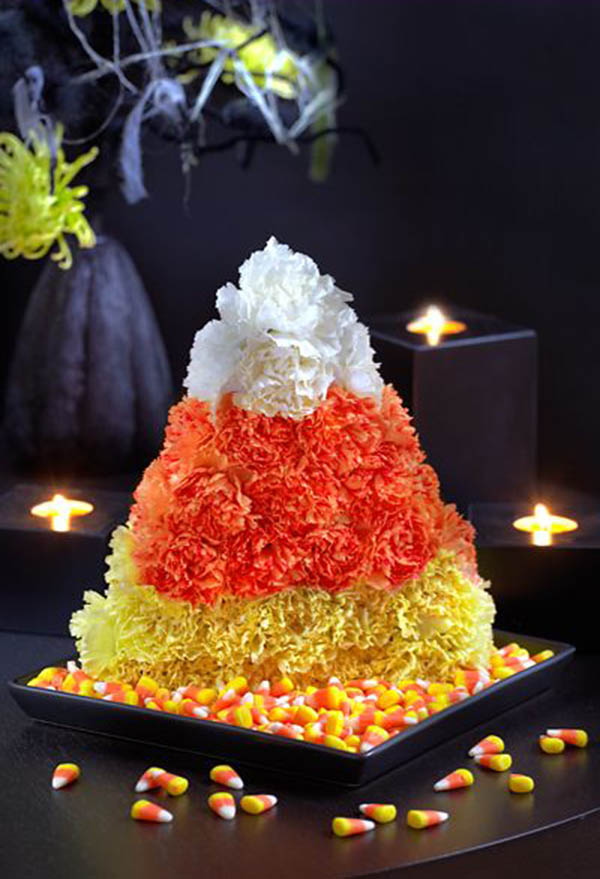 Fabulous Candy Corn Centerpiece for Halloween