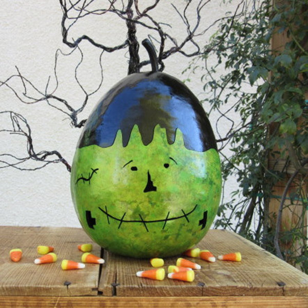 Fun Frankenstein Painted Pumpkin!