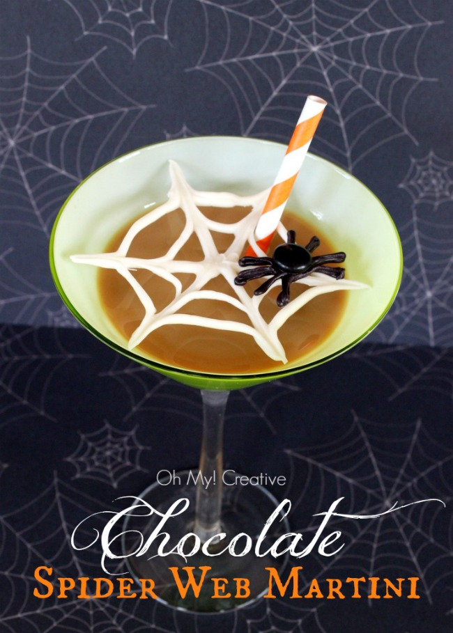 Fun Spider Web Chocolate Martini